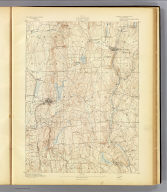 No. 12. Connecticut. Tolland sheet. U.S. Geological Survey, J.W. Powell, Director. State of Connecticut ... commissioners. Henry Gannett, Chief Topographer. Marcus Baker, Topographer in charge. Triangulation by U.S. Coast and Geodetic Survey. Topography by J.H. Jennings and J.J. Lincoln. Surveyed in 1890. (1893)