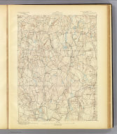 No. 13. Connecticut. Woodstock sheet. U.S. Geological Survey, J.W. Powell, Director. State of Connecticut ... commissioners. Henry Gannett, Chief Topographer. Marcus Baker, Topographer in charge. Triangulation by U.S. Coast and Geodetic Survey and S.S. Gannett. Topography by James McCormick. Surveyed in 1890. (1893)