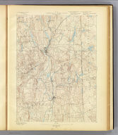 No. 14. Connecticut-Rhode Island. Putnam sheet. U.S. Geological Survey, J.W. Powell, Director. State of Connecticut ... State of Rhode Island ... commissioners. Henry Gannett, Chief Geographer. Marcus Baker, Geographer in charge. Topography by J.H. Jennings. Surveyed in 1888. (1893)