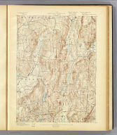 No. 15. New York-Connecticut. Clove sheet. U.S. Geological Survey, J.W. Powell, Director. State of New York ... State of Connecticut ... commissioners. Henry Gannett, Chief Topographer. Marcus Baker, Geographer in charge. Triangulation by U.S. Coast and Geodetic Survey. Topography by E.B. Clark and N.Y. Aqueduct Com. Surveyed in 1891. Engraved by Evans & Bartle, Wash., D.C. (1893)