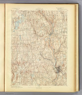 No. 17. Connecticut. Waterbury sheet. U.S. Geological Survey, J.W. Powell, Director. State of Connecticut ... commissioners. Henry Gannett, Chief Topographer. Marcus Baker, Topographer in charge. Triangulation by U.S. Coast and Geodetic Survey. Topography by J.H. Jennings and Marcus B. Lambert. Surveyed in 1890. (1893)