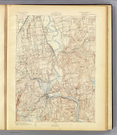 No. 19. Connecticut. Middletown sheet. U.S. Geological Survey, J.W. Powell, Director. State of Connecticut ... commissioners. Henry Gannett, Chief Topographer. Marcus Baker, Topographer in charge. Triangulation by U.S. Coast and Geodetic Survey. Topography by James McCormick and John J. Lincoln. Surveyed in 1890. Engraved by Julius Bien & Co., N.Y. (1893)