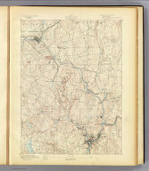 No. 21. Connecticut. Norwich sheet. U.S. Geological Survey, J.W. Powell, Director. State of Connecticut ... commissioners. Henry Gannett, Chief Topographer. H.M. Wilson, Geographer in charge. Triangulation by U.S. Coast and Geodetic Survey. Topography by F.P. Gulliver, Robert Muldrow, J.H. Wheat and G.L. Johnson. Surveyed in 1890-91. Engraved by Julius Bien & Co., N.Y. (1893)