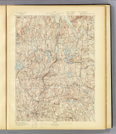No. 23. New York-Connecticut. Carmel sheet. U.S. Geological Survey, J.W. Powell, Director. State of New York ... State of Connecticut ... commissioners. Henry Gannett, Chief Topographer. H.M. Wilson, Topogapher in charge. Triangulation by U.S. Coast and Geodetic Survey. Topography by J.H. Jennings, U.S. Geological Survey, and N.Y. Aqueduct Commissioners. Surveyed in 1889-90. Engraved by U.S.G.S. (1893)