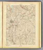 No. 24. Connecticut. Danbury sheet. U.S. Geological Survey, J.W. Powell, Director. State of Connecticut ... commissioners. Henry Gannett, Chief Topographer. Marcus Baker, Topographer in charge. Triangulation by the U.S. Coast and Geodetic Survey. Topography by J.H. Jennings. Surveyed in 1889. (1893)
