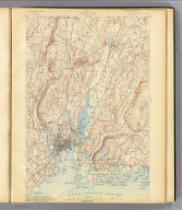 No. 26. Connecticut. New Haven sheet. U.S. Geological Survey, J.W. Powell, Director. State of Connecticut ... commissioners. Henry Gannett, Chief Topographer. Marcus Baker, Topographer in charge. Triangulation by U.S. Coast and Geodetic Survey. Topography by U.S. Coast and Geodetic Survey, W.R. Atkinson and J.H. Jennings. Surveyed in 1889 and 1890. Engraved by U.S.G.S. (1893)