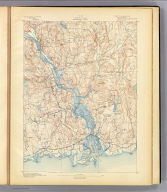 No. 28. Connecticut. Saybrook sheet. U.S. Geological Survey, J.W. Powell, Director. State of Connecticut ... commissioners. Henry Gannett, Chief Topographer. Marcus Baker, Topographer in charge. Triangulation by U.S. Coast and Geodetic Survey. Topography by E.B. Clark. Surveyed in 1890. Engraved by Julius Bien & Co., N.Y. (1893)