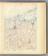 No. 30. Conn.-R.I.-N.Y. Stonington sheet. U.S. Geological Survey, J.W. Powell, Director. State of Connecticut ... State of Rhode Island ... commissioners. Henry Gannett, Chief Geographer. Marcus Baker, Geographer in charge. Triangulation by the U.S. Coast and Geodetic Survey. E.B. Clark and F.P. Gulliver. Surveyed in 1888. (1893)