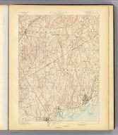 No. 31. New York-Connecticut. Stamford sheet. U.S. Geological Survey, J.W. Powell, Director. State of Connecticut ... commissioners. Henry Gannett, Chief Geographer. H.M. Wilson, Geographer in charge. Triangulation by U.S. Coast and Geodetic Survey. Topography by E.B. Clark and J.W. Thom. Surveyed in 1889-90. (1893)