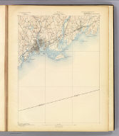 No. 33. Connecticut. Bridgeport sheet. U.S. Geological Survey, J.W. Powell, Director. State of Connecticut ... commissioners. Henry Gannett, Chief Topographer. Marcus Baker, Topographer in charge. Triangulation by the U.S. Coast and Geodetic Survey. Topography by E.B. Clark. Surveyed in 1889. (1893)