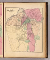 City of Lowell. Reduced by permission from the large map by R.W. Baker. (H.F. Walling & O.W. Gray, Boston, 1871)