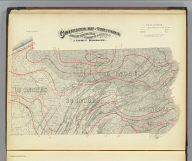 Climatological map of Pennsylvania showing the average temperature, amount of rainfall &c. 1872. By Lorin Blodget. Engraved by W.S. Barnard, N.Y. (Published by Stedman, Brown & Lyon, Philadelphia, 1872)