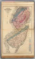 Geological map of New Jersey, from the State Geological Survey, of 1868 by Geo. H. Cook. (1872)
