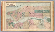 Map of central portions of the cities of New York and Brooklyn. (1872)