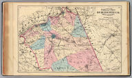 Topographical map of the northern part of Burlington Co., New Jersey (1872)