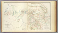 Plan of the battle-field at Bull Run, July 21st, 1861, to accompany the Report of Brig. Genl. Irvin McDowell, commanding, prepared by Capt. A.W. Whipple, Topl. Engrs, 1st Lieut. H.L. Abbot ... (and) 1st Lieut. H.S. Putnam ..., drawn by J.J. Young, civil engineer. Map of the battle-fields of Manassas and the surrounding region, showing the various actions of the 21st July, 1861, between the armies of the Confederate States and the United States, surveyed and drawn by W.G. Atkinson, acting 1st Lieut., Engineers. Julius Bien & Co., Lith., N.Y. (1891-1895)