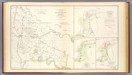 Map of the Battle-grounds in the vicinity of Richmond, Va. Chief Engineer's Office D.N.V., Col. J.F. Gilmer, Chf. Engr. Made under the direction of A.H. Campbell, Capt. P.E. and Chf. Topl. Dept. 1862 and 3. (with) Reconnaissance of part of the rebel works in front of Williamsburg, evacuated May 6th 1862, by M.D. McAlester, Lt. Eng'rs., May 6th 1862. (with) Sketch of the battle-field and Confederate works in front of Williamsburg, Va., May 5th, 1862, by Lieut. M.D. McAlester, Chief Engr., 3rd. Corps, Army of the Potomac. (with) Battle-field and rebel works in front of Williamsburg, Va. Battle of 5th May 1862 ... Julius Bien & Co., Lith., N.Y. (1891-1895)