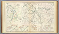 10. New map of Tennessee by Capt. Michler, Topl. Engineers, U.S.A. (with) 9. Topographical sketch of the battle-field of Stone's River near Murphreesborough, Tenn., December 31st 1862 to January 3d. 1863. Maj. Gen. W.S. Rosecrans ... Forces of the United States. General Braxton Bragg commanding enemy's forces. (with) Position of 1st Division 3rd Corps at noon December 13, 1862. Drawn by direction of Brig. Gen. D.B. Birney ... (by) J.C. Briscoe ... (with) Position held by the 1st Division 3rd Corps after having repulsed the enemy December 13, 1862. Drawn by direction of Brig. Gen. D.B. Birney ... (by) J.C. Briscoe ... (with) Map of Huntersville line commanded by Col. Wm. L. Jackson. (with) Sketch showing the positions of Liddell's division consisting of Walthall's and Govan's brigades in the Battle of Chickamauga, September 18, 19 and 20, 1863. Accompanying report of Brig. Gen. St. John R. Liddell, C.S. Army. Julius Bien & Co., Lith., N.Y. (1891-1895)