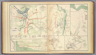 Bb. Plan of the battles on Stone's River before Murfreesborough. Gen. Bragg, commdg. Confederate Army, Maj. Gen. Rosecrans, commdg. Federal Army, Dec. 31, 1862, Jan. 1, 2, 3, 1863. ... by Walter J. Morris ... (with) Position of the divisions of Humphreys, Whipple, Griffin and Sykes at the battle of Fredericksburg on Dec. 13th, 1862. (with) V. Plan of Sabine Pass, of its defenses and means of communication. J. Kellersberg(er) ... October 15th, 1863. (with) Rebel fortifications, Grand Gulf, Miss. Surveyed May, 1863, drawn October, 1863 by H.A. Ulffers, Asst. Engr. (with) Skirmishes near Liberty Gap, Tenn., June 24-26, 1863 ... report of Brig. Gen St. John R. Liddell, C.S. Army. (with) Map of the approaches to Little Rock, Ark., made under directions from Maj. Gen. Sterling Price ... by Capt. T.J. Mackey, C.S. Engrs., August, 1863 ... Julius Bien & Co., Lith., N.Y. (1891-1895)