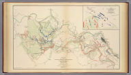 Sketch of the battles of Chancellorsville, Salem Church and Fredericksburg, May 2, 3 and 4, 1863. Prepared by order of General R.E. Lee, by Jed. Hotchkiss, Topogl. Engr., 2d. Corps, A.N.V. (with) Map of the action at Dranesville, Va., December 20th, 1861. U.S. forces commanded by Brig. Gen. E.O.C. Ord. Drawn by H.H. Strickler ... 1875. Julius Bien & Co., Lith., N.Y. (1891-1895)