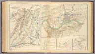 """Map no. 1. The Chickamauga Campaign, August 16-September 22, 1863. E.G. Anstey, draughtsman. Accompanying report of Gen. Braxton Bragg, C.S. Army. Topographical map of the approaches and defenses of Knoxville, E. Tennessee, showing the positions occupied by the United States and Confederate forces during the siege. Surveyed by direction of Capt. O.M. Poe ... during Dec., Jan. and Feb., 1863-4 by Cleveland Rockwell, Sub. Asst., U.S. Coast Survey, R.H. Talcott, aide. (with Dallas Line, Georgia). Accompanying letter of Maj. Gen. Jas. B. McPherson ... (with Dallas Line, Georgia). Original marked """"McPherson May 27."""" From original in possession of Gen. W.T. Sherman. (with) Sketch of roads from Gen. McCook's hdqrs. near junction of Acworth and Dallas and Marietta roads to Acworth and Big Shanty and R.R. ... 1864. From original in possession of Gen. W.T. Sherman. Julius Bien & Co., Lith., N.Y. (1891-1895)"""
