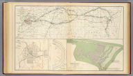 Map of the country between Vicksburg and Meridian, Miss. showing the route followed by the Seventeenth Army Corps under the command of Maj. Gen. J.B. McPherson in February, 1864. Surveyed by Lt. H.M. Bush and assistants S. Davis and S.W. Dunning under the direction of Capt. A. Hickenlooper, Chf. Engr. (with) Sketch of the city of Atlanta and line of defenses. L.P. Grant, Capt. Engs. (with) Sketch of battery. L.P. Grant, Capt. Engs. (with) Map of Smith's Island, N.C. Prepared under the direction of Capt. Wm. H. James, Chf. Engr. by Lieut. B.L. Blackford, Top. Engr., Nov., 1863. Accompanying letter of Maj. Gen. W.H.C. Whiting, C.S. Army. Julius Bien & Co., Lith., N.Y. (1891-1895)
