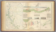Parts of Arkansas and Louisiana. Respectfully forwarded, Richd. M. Venable ... Accompanying the report of Gen. E. Kirby Smith, C.S. Army. Section including falls and dam in Red River. Prepared by order of B'v't. Brig. Gen. J. Bailey by Lieut. W.S. Trask ... (with) Sketch of the battle-field of Ocean Pond, Fla., February 20th, 1864. M.B. Grant, Lieut., Corps Engrs., C.S.A., del. (with) Part of Louisiana. Sketch of General Liddell's plan, January, 1864. Accompanying letter of Maj. Gen. R. Taylor, C.S. Army. Julius Bien & Co., Lith., N.Y. (1891-1895)