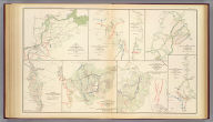 """Map of the vicinity of Petersburg, Va., 1862. """"Copy of map furnished General Gillmore ... June 9, 1864."""" Accompanying letter of Maj. Gen. B.F. Butler ... (with) No. 15. The Atlanta Campaign, operations of the 4th Army Corps from June 15th to July 3d 1864. Accompanying report of Maj. Gen. O.O. Howard ... (with) No. 16. The Atlanta Campaign, operations of the 4th Army Corps from July 3d to 5th 1864. (with) No. 17. The Atlanta Campaign, operations of the 4th Army Corps from July 5th to 18th 1864. (with) Position of the Army of the Tennessee from May 27th to June 4th 1864. (with) Battle ground of the Army of the Tennessee under command of the late Maj. Gen. James B. McPherson before Atlanta, Ga., July 22d 1864. (with) Battle-ground of the Army of the Tennessee under the command of Maj. Gen. O.O. Howard before Atlanta, Ga., July 28th 1864 ... C.B. Reese, Capt. of Engineers ... (with) No. 18. The Atlanta Campaign, operations of the 4th Army Corps from July 18th to 27th 1864. Julius Bien & Co., Lith., N.Y. (1891-1895)"""