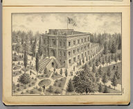 The Court House of Yolo County, Woodland, Cal. De Pue & Co. Pub., S.F. Lith. W.T. Galloway. (1879)