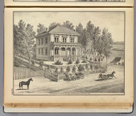 Residence of W.C. Curtiss, Woodland, Yolo Co., Cal. De Pue & Co. Pub., S.F. W.T. Galloway, Lith., S.F. (1879)