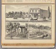 Residence of W.W. Hannum, Yolo ... Mardis & Lawson, props., Woodland ... Residence of Geo. Sharpnack, Yolo ... Farm & residence of B.F. Duncan, Capay Valley ... (all) Yolo Co., Cal. De Pue & Co. Pub., S.F. Lith. W.T. Galloway, S.F. (1879)