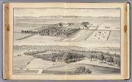 Farm & residence of James Moore, Woodland, Yolo Co., Cal. Farm & residence of R.E. Moore, Woodland, Yolo Co., Cal. De Pue & Co. Pub., S.F. W.T. Galloway, Lith., S.F. (1879)