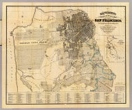 Bancroft's Official Guide Map Of City And County Of San Francisco, Compiled From Official Maps In Surveyor's Office. Published by A.L. Bancroft & Co. ... San Francisco, 1881. Entered ... 1877, by A.L. Bancroft & Company ... Washington, D.C. (inset) Skeleton Map Showing the relative position of San Francisco to the Surrounding Country.