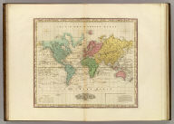 The World On Mercators Projection. American Atlas. Published by H.S. Tanner Philada.
