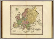Europe. American Atlas. Published by H.S. Tanner Philadelphia.