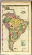 South America With Improvements To 1823 By H.S. Tanner. (with) Comparative Altitudes Of The Mountains Towns &c. Of South America. American Atlas. Engraved & Published by H.S. Tanner Philadelphia. Entered ... 8th day of June 1818, by Tanner, Vallance, Kearny & Co. ... Pennsylvania.