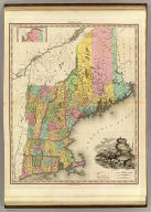 Map Of The States Of Maine, New Hampshire, Vermont, Massachusetts, Connecticut & Rhode Island By H.S. Tanner. Improved To 1825. (with) North Part of Maine. American Atlas. Engraved & Published by H.S. Tanner, Philadelphia. Entered ... 14th day of Novr. 1820 by H.S. Tanner ... Pennsylvania.