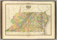 Virginia Maryland And Delaware By H.S. Tanner. American Atlas. Engraved & Published by H.S. Tanner, Philadelphia. Improved To 1825. Entered ... 20th day of Decr. 1820, by H.S. Tanner ... Pennsylvania.