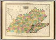 Kentucky And Tennessee By H.S. Tanner. Improved To 1825. American Atlas. Entered ... 20th day of August 1823, by H.S. Tanner ... Pennsylvania. Published by H.S. Tanner, Philadelphia. Engraved by H.S. Tanner & Assistants.
