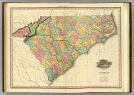 Map Of North & South Carolina By H.S. Tanner. Improved To 1825. American Atlas. Entered ... 20th day of August 1823, by H.S. Tanner ... Pennsylvania. Published by H.S. Tanner, Philadelphia. Engraved by H.S. Tanner & Assistants.
