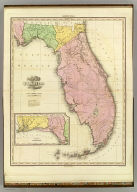 Map Of Florida By H.S. Tanner. Improved To 1825. (with) West Part of Florida. American Atlas. Entered ... 20th day of August 1823, by H.S. Tanner ... Pennsylvania. Published by H.S. Tanner Philadelphia. Engraved by H.S. Tanner & Assistants.