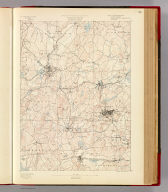 Massachusetts. Marlboro sheet. Preliminary edition subject to corrections. U.S. Geological Survey, J.W. Powell, Director. State of Massachusetts ... commissioners. Henry Gannett, Chief Geographer. Marcus Baker, geographer in charge. Triangulation by R.U. Goode. Topography by R.D. Cummin, under direction of W.D. Johnson. Surveyed in 1886-7. Forbes Co., Boston & N.Y. (1890)