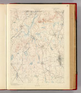 Massachusetts. Dedham sheet. Preliminary edition subject to corrections. U.S. Geological Survey, J.W. Powell, Director. State of Massachusetts ... commissioners. Henry Gannett, Chief Geographer. Marcus Baker, geographer in charge. Triangulation by the U.S. Coast and Geodetic and Borden surveys. Topography by S.H. Bodfish and E.W.F. Natter. Surveyed in 1884-86. Forbes Co., Boston & N.Y. (1890)