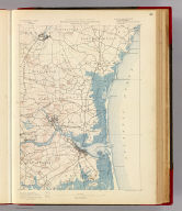Massachusetts-New Hampshire. Newburyport sheet. Preliminary edition subject to corrections. U.S. Geological Survey, J.W. Powell, Director. State of Massachusetts ... commissioners. Henry Gannett, Chief Geographer. Marcus Baker, geographer in charge. Triangulation by the U.S. Coast and Geodetic and Borden surveys. Coast line by U.S. Coast and Geodetic Survey. Topography by J.D. Hoffman (i.e. Hoffmann) and W.H. Lovell. Surveyed in 1884-8. Forbes Co., Boston & N.Y. (1890)