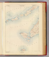Massachusetts. Gay Head sheet. Preliminary edition subject to corrections. U.S. Geological Survey, J.W. Powell, Director. State of Massachusetts ... commissioners. Henry Gannett, Chief Geographer. Marcus Baker, geographer in charge. Triangulation and coast line by the U.S. Coast and Geodetic Survey. Topography by E.B. Clark. Surveyed in 1887. Forbes Co., Boston & N.Y. (1890)