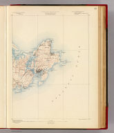 Massachusetts. Gloucester sheet. Preliminary edition subject to corrections. U.S. Geological Survey, J.W. Powell, Director. State of Massachusetts ... commissioners. Henry Gannett, Chief Geographer. Marcus Baker, geographer in charge. Triangulation and coast line by the U.S. Coast and Geodetic and Borden surveys. Topography by E.W.F. Natter. Surveyed in 1886. Forbes Co., Boston & N.Y. (1890)
