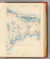 Massachusetts. Barnstable sheet. Preliminary edition subject to corrections. U.S. Geological Survey, J.W. Powell, Director. State of Massachusetts ... commissioners. Henry Gannett, Chief Geographer. Marcus Baker, geographer in charge. Triangulation, coast line and topography of north coast by the U.S. Coast and Geodetic Survey, the remainder by E.B. Clark, assistant topographer. Forbes Co., Boston & N.Y. (1890)