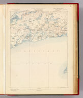 Massachusetts. Yarmouth sheet. Preliminary edition subject to corrections. U.S. Geological Survey, J.W. Powell, Director. State of Massachusetts ... commissioners. Henry Gannett, Chief Geographer. Marcus Baker, geographer in charge. Triangulation and coast line by the U.S. Coast and Geodetic Survey. Topography by E.B. Clark. Surveyed in 1886-7. Forbes Co., Boston & N.Y. (1890)