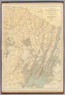 A topographical map of the counties of Bergen, Hudson and Essex, with parts of Passaic and Union. George H. Cook, State Geologist, John C. Smock, assistant geologist, C.C.Vermeule, topographer. 1884. Geological Survey of New Jersey. Atlas sheet no. 7, northeastern red sandstone. Julius Bien & Co., Lith., N.Y. (1888)