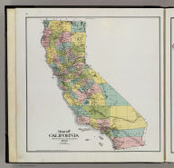 Map of California, compiled from official and reliable sources. 1898. (Published by Reynolds & Proctor, Santa Rosa, Cal., 1898)